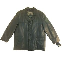 Sort Band-1 4157rm 701 Wilda Men Button-up 3/4 Length Leather Coat/jacket