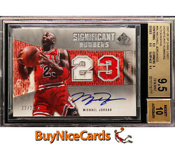 07-08 Michael Jordan SP Game Used Significant Numbers Patch Auto /23 BGS 9.5