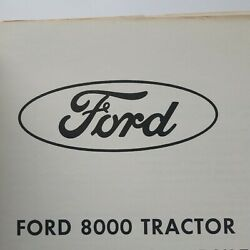 Ford 8000 Tractor Service Manual Missing Last Page, Cover Page