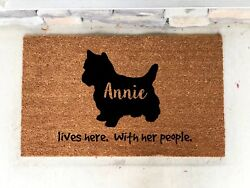 Personalized Yorkie Yorkshire Terrier Custom Door Mat Gift House  Dog Lover