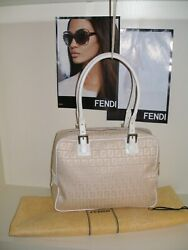 FENDI SAKS 5TH AVE WHITE DESIGNER ORIGINAL LTD. ED. NWOT HANDBAG SHOULDER BAG