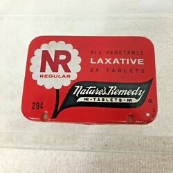 Vintage Nature's Remedy Laxative Tin Red 24 Tablet Size Regular 2 5/8x1 3/4 T24