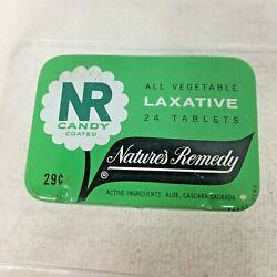 Vintage Nature's Remedy Laxative Tin Green Candy Coated 2 5/8 X 1 3/4 T24