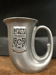 Vintage Wilton Armetale Michelob French Horn Beer Stein Mug Pewter Usa