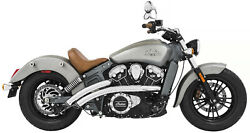 Freedom Chrome Radical Radius 22 Exhaust Black Tips 2015+ Indian Scout In00075