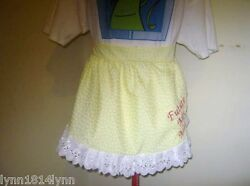 Butterfly 1/2 Aprons With Lace Trim Suit Kitchen Tea/bridal Showers To Order