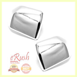 For 2015 16-19 Ford F150 F-150 Chrome Side Mirror Cover Covers Top Half Fast