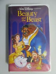 DISNEY= Beauty and the Beast Black Diamond VHS w Stickers and Inserts 1992