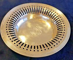 Antique Sterling Silver Bowl Reticulated By Rwands Monogrammed Rrb