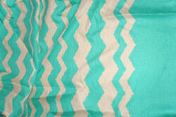 Cotton Chevron Suiting Fabric Border Print Novelty Weave By the Yard Bfab