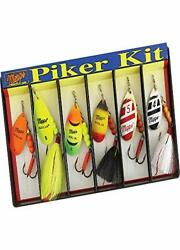 Fishermanand039s Dressed Spinner Fishing Lure Assortment Kit W/ Solid Brass Bodies