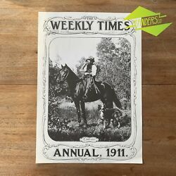 Vintage 1970and039s And039the Weekly Timesand039 1911 Annual Print Coo-ee Poster