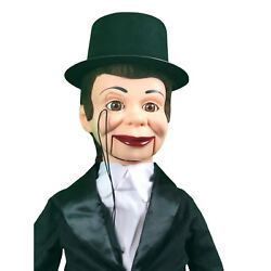 Charlie Mccarthy Deluxe Upgrade Ventriloquist Dummy Doll Puppet With Moving Eyes