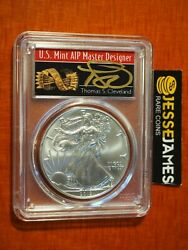 2019 Silver Eagle Pcgs Ms70 Thomas Cleveland First Strike Arrows Label
