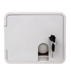 White Square Gravity City Water Inlet Fill Dish Hatch Lock Rv Trailer 2