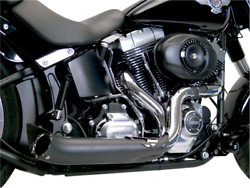 Supertrapp Phantom Ii Black Exhaust System 138-71680 Softail Made In Usa