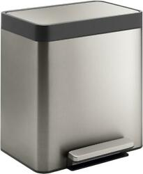 Kohler 20942-ST 8-Gallon Compact Stainless Step Trash Can Steel