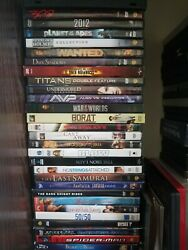 Lot Of 55 Used Assorted Dvd Movies - 55 Bulk Dvds - Used Dvds Lot - Wholesale