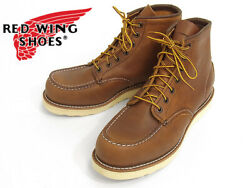 Red Wing Heritage 10875 Mens Classic 6 Bootoro-iginal Leather W/ Stamp Logo