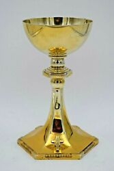 + Antique Neo-gothic Chalice + All Sterling Silver + Made By Gorham Co.cu1216