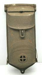 Beautifully Constructed Heavy Duty Arts And Crafts Cast Iron 13 Mailbox W/ Rack