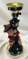 Rare Racist Vintage ceramic lamp - Drunk Scottish Character holding street pole