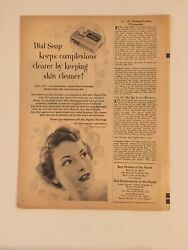 Vintage Magazine Print Ad Ads Advertisement Dial Soap Photoplay April 1952