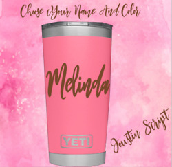Monogram vinyl decal for Tumblers Cups Sticker Personalized Name 2.5quot; $1.89