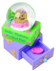 Precious Moments Sole Sisters Perfect Pair Puppy Dog Figurine Snow Globe 154441