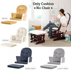 5pcs Glider Rocking Chair And Ottoman Baby Nursery Replacement Cushions Velvet