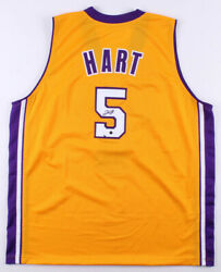 Josh Hart Signed Los Angeles Lakers Jersey Steiner Holo 2017 Jazz 1st Rd Pick