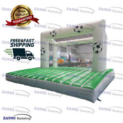 16x13ft Inflatable Football Toss Bounce Soccer Shooting Goal With Air Blower