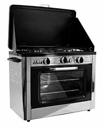 Compact Outdoor Range Oven For Camping Trips And Emergency Preparedness