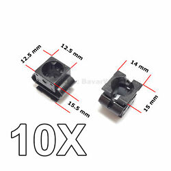 10x Engine Undertray Cover Clips, Lower Guard Panel Retainer, For Audi, Vw, Seat