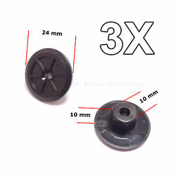 3x Unthreaded Nylon Nuts, Mounting Clips For Bmw, Volkswagen, Seat, M-benz