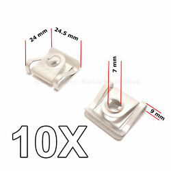 10X  Under Engine Cover Fitting Clips for Audi, VW, Skoda