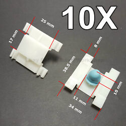 10X Door Fender Moulding Clips Retainers with Rubber Caps for VW GOLF 3, VENTO