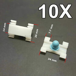 10X Door Fender Moulding Clips Retainers with Rubber Caps for BMW E39, E39, FIAT