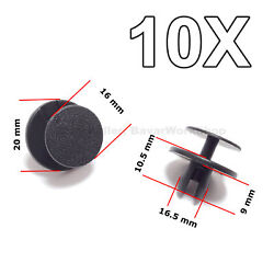 10x Hood And Trunk Insulation Push-type Retainers, Clips For Bmw, Mini