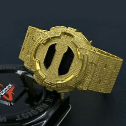 New Authentic G-shock Full Icy Custom Men's Simulated Canary Diamond Watch Gd100