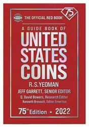2022 Red Book Official Price Guide Of Us Coins Hard Cover Coin Value 75th New