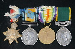 Ww1 Canadian Army Medical Corps Camc Cef Medal Group Named To Sjt Field