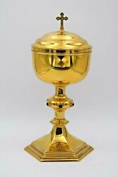 + Large Antique Ciborium + All Sterling Silver + Feeley Co. Cu1280 Chalice Co.