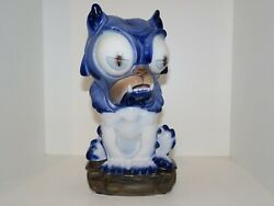 Rare Bing And Grondahl Figurine, Blue Dog From The Fairy Tale The Tinderbox