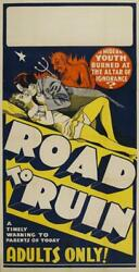 The Road To Ruin Poster//the Road To Ruin Movie Poster//movie Poster//poster Rep