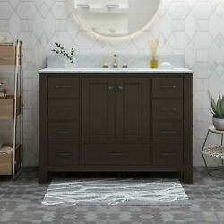 Laranne Contemporary 48 Wood Bathroom Vanity Counter Top Not Included