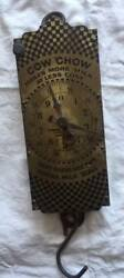 Vintage Antique Cow Chow Purina Advertising Milk Spring Balance Brass Scale
