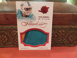 Panini Flawless Ruby Game Worn Jersey Dolphins Ryan Tannehill 07/15 2014