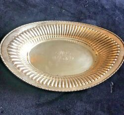 Antique Sterling Silver Tray Monogrammed Kgg