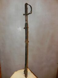 Arts Of Africa - Old Dogon Sword - Mali - 39 Long X 4 Wide